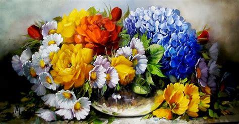 imagenes de flores pintadas al oleo cuadros modernos pinturas flores pintadas al 211 leo