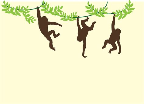 monkey swinging on a vine free illustration monkeys swinging hanging vines