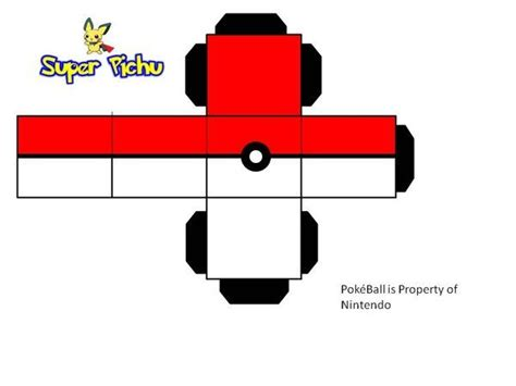 pokeball template pokeball paper craft by pichu paper craft