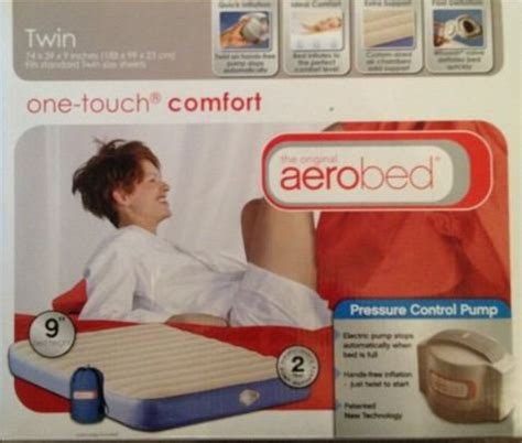 one touch comfort the original airobed one touch comfort twin air mattress