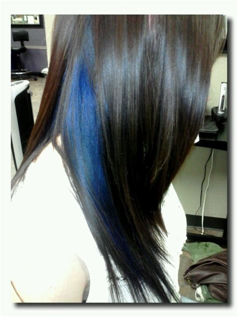 peek a boo hair color ideas peek a boo blue hair color my style