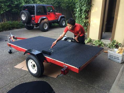paint boat trailer with rustoleum harbor freight trailer with deck concrete restore 10x