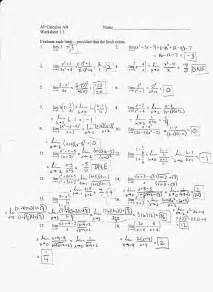 Limits At Infinity Worksheet Ab Chapter 1 Mr Pomerance