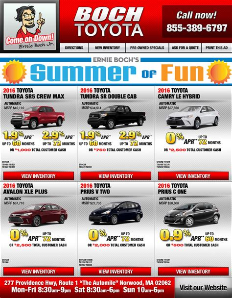 Boch Toyota Used Cars Boch Toyota Additional Specials On The Automile In