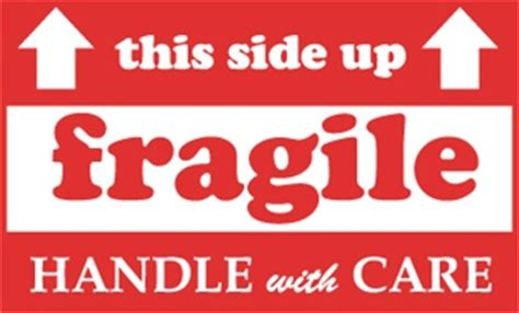 shipping label this side up fragile quot this side up quot handle with care shipping labels