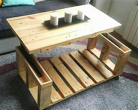 repurposed table top ideas repurposed wood pallets lift top coffee table pallet ideas