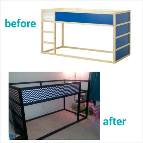 diy ikea loft bed diy chevron ikea kura bed hack mommyneurotic