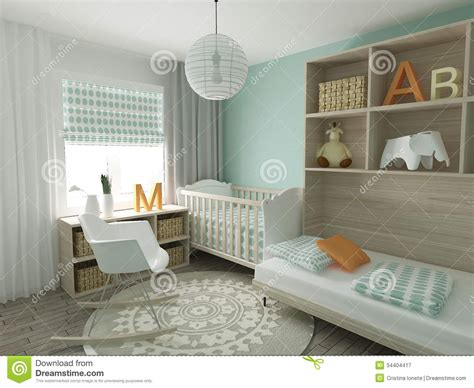 nursery in bedroom nursery interior royalty free stock photography image