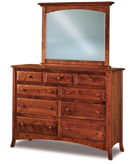 wide bedroom dressers carlisle 9 drawer dresser 59 quot wide amish direct furniture