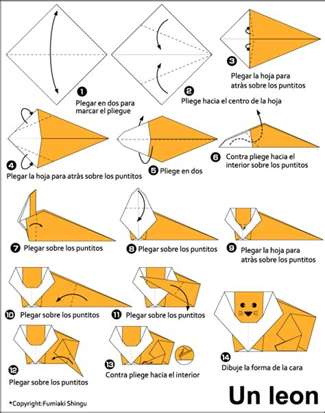 How To Make A Paper Cheetah - origami