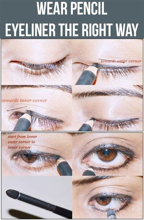 eyeliner tutorial with pencil pencil eyeliner tutorial www imgkid com the image kid