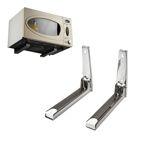 new silver foldable rack stretch shelf for microwave oven