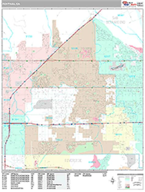 map of fontana ca fontana california wall map premium style by marketmaps