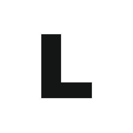 lettere l sticker lettre l pour coller sur votre voiture mur