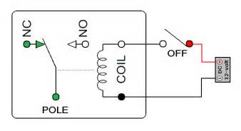 electromechanical relay 12v normally closed relay wiring diagram on 3 prong switch wiring