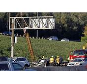 California Driver Thrown From Car Lands On LA Freeway Sign 20 Feet Up