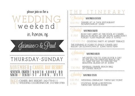 Best 25 Wedding Weekend Itinerary Ideas On Pinterest Welcome Bags Wedding Weekend And Wedding Schedule Template For Guests