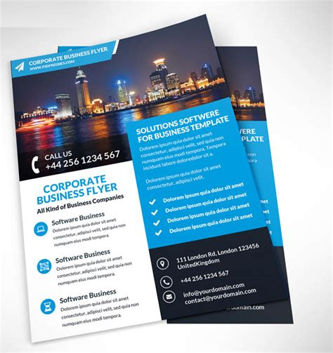 free corporate business flyer psd template free download