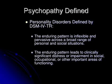 enduring pattern meaning ppt psychopathy powerpoint presentation id 4570954
