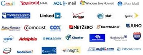 email service provider list a few email providers