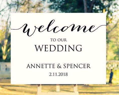 183 Best Wedding Sign Templates Images On Pinterest Adobe Acrobat Computers And Fields Welcome To Our Wedding Template Free