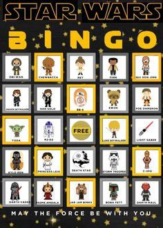 printable lego star wars bingo cards star wars printable bingo game star wars party ideas
