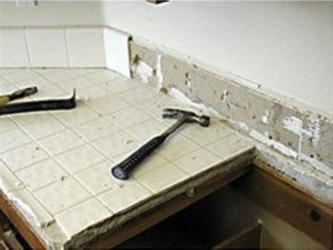 How To Remove Tile Countertop by Removing Tile Countertop Tile Design Ideas