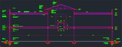 building r section drawing autocad 3d cad model grabcad