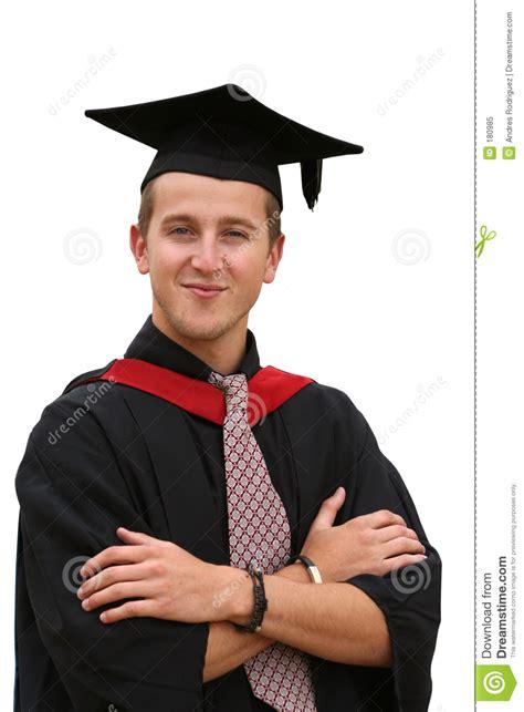 graduation student isolated stock image image  male