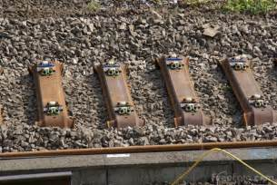 laying new steel railway sleepers pictures free use image