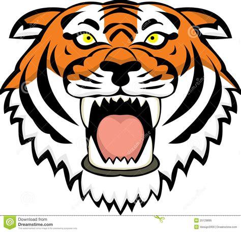 Angry Tiger Face Cartoon