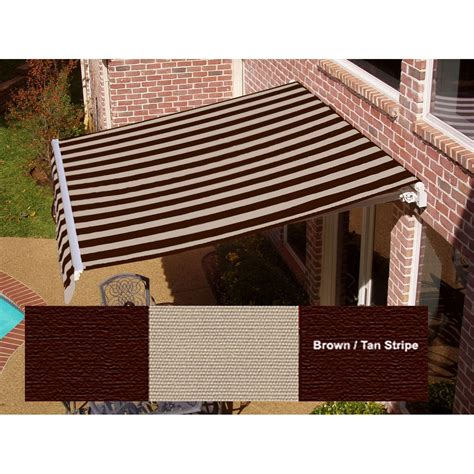 beauty mark awning beauty mark 174 maui 174 lx motorized retractable awning brown