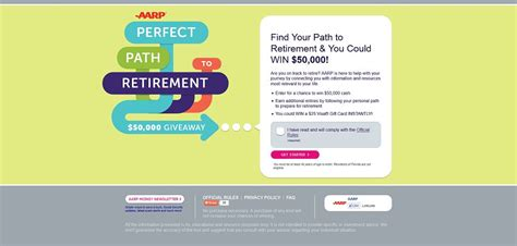 Aarp 50000 Retirement Giveaway Sweepstakes - aarp perfect path to retirement 50 000 giveaway promotion