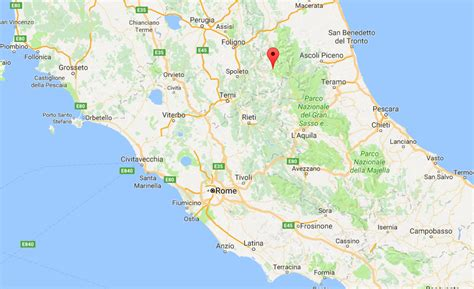 norcia italy map at least 18 died following an earthquake in italy ie