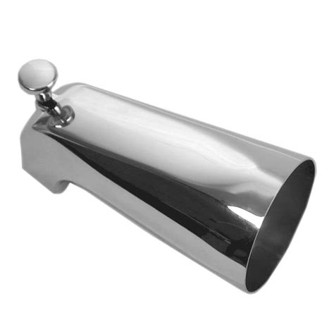 bathtub nozzle 5 in bathroom tub spout w front diverter in chrome danco