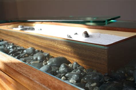 zen garden coffee table 19 and sand the