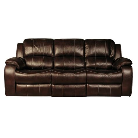 faux leather recliner sofa holbrook 3 seater recliner sofa in brown faux leather 27058