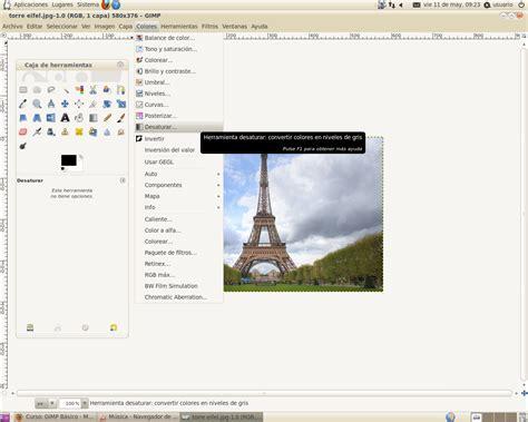 poner imagen blanco y negro gimp tutoriales gimp tutorial imagen blanco y negro