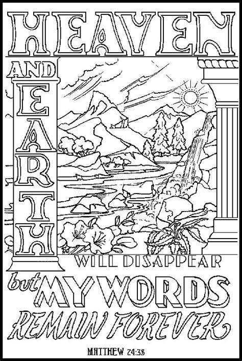 Coloring Page 24 by Bible Words To Color Matthew 24 38 Grown Ups Like To