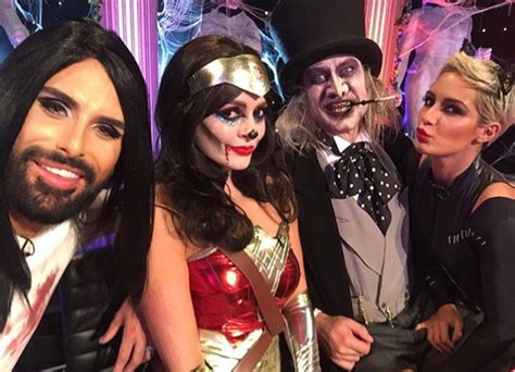 celebrity juice halloween special 2017 holly willoughby almost had a major wardrobe malfunction