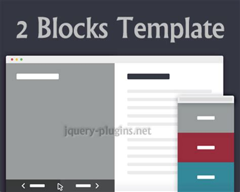 2 blocks template jquery plugins