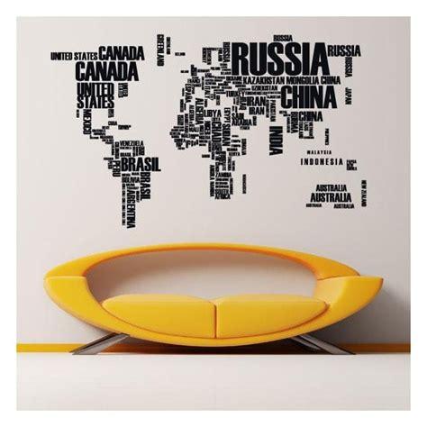 testo il mondo testi di mappa mondo vinile decorativo
