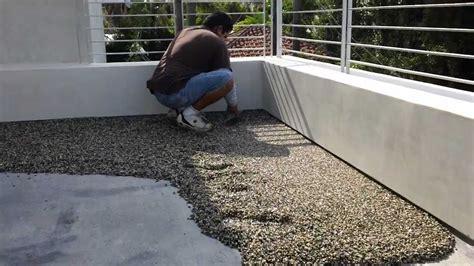 kiesel bodenbelag pebbletec floor system installation by designs