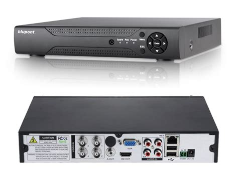 4 channel dvr 5 in 1 supports tvi cvi ahd analog ip network