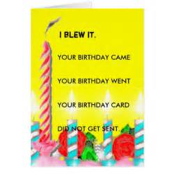 belated birthday greeting card zazzle
