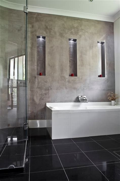 polished plaster bathroom polished plaster modern bathroom brisbane by