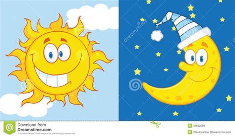 imagenes del sol y la luna personajes de dibujos animados de sun y de la luna