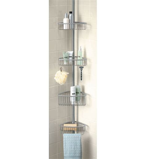 zenith e2132hb tub and shower tension pole caddy oil pole shower caddy 28 images oversized 3 tier pole