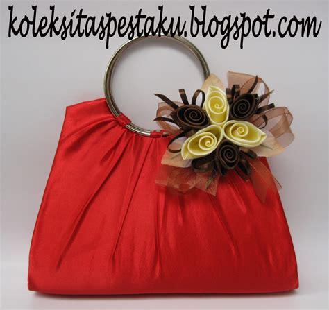 High Heels Cantik Ps Sr009 Brukat tas pesta clutch bag taspestaku tas pesta terbaru cantik clutch bag dengan bross bunga