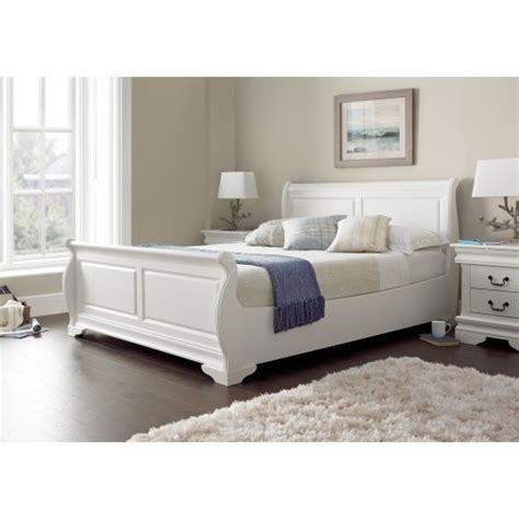 soft bed frame louie double bed frame soft white including one